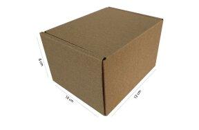 KRAFT CARDBOARD POSTAL BOXES 12X10X8cm SET/50